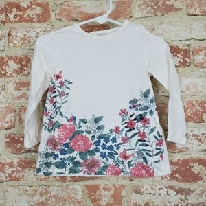 H&M Floral Long Sleeve Top